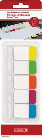 Brunnen Indeksimerkkausliuskat, 150 Liuskaa, 6 Rei'ällä, 5 Väriä