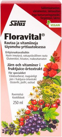 Salus Floravital Rautaa Ja Vitamiineja Täysmehu-Yrttiuutoksessa 250Ml