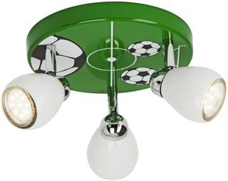 Brilliant Soccer led kattospotti 3-osainen vihreä