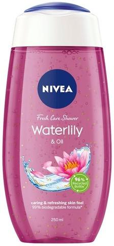 Nivea 250Ml Waterlily & Oil Caring Shower Gel -Suihkugeeli