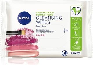 NIVEA 25kpl Daily Essentials Gentle Cleansing Wipes puhdistusliinat kuivalle iholle
