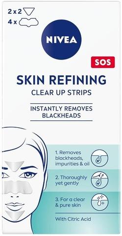 Nivea 6Pcs Daily Essentials Refining Clear-Up Strips Puhdistuslaput Kasvojen T-Alueelle