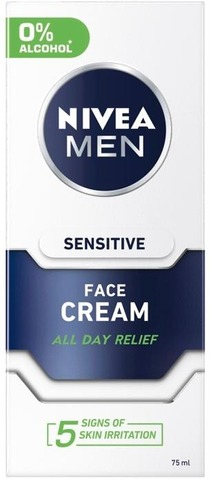 Nivea Men 75Ml Sensitive Face Care Moisture Cream -Kasvovoide