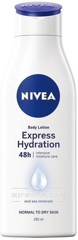 Nivea 250Ml Express Hydration Body Lotion Vartaloemulsio Normaalille Ja Kuivalle Iholle