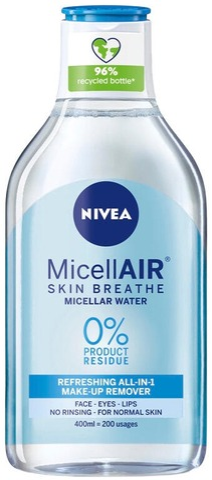 Nivea 400Ml Micellair Cleansing Water For Normal Skin -Puhdistusvesi Normaalille Iholle