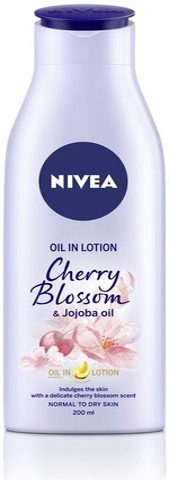 Nivea 200Ml Oil In Lotion Cherry Blossom & Jojoba Oil -Vartaloemulsio