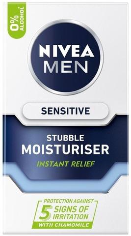 Nivea Men 50Ml Sensitive Stubble Moisturiser -Kasvogeeli