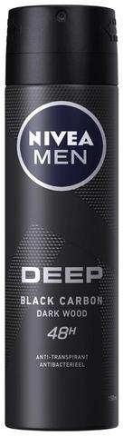 Nivea Men 150Ml Deep Deo Spray -Antiperspirantti