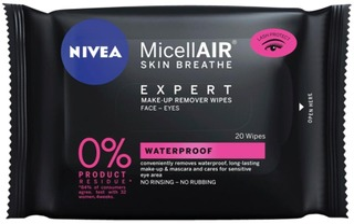 NIVEA 20kpl MicellAIR Expert Waterproof Make-up Removing Wipes -meikinpuhdistusliinat