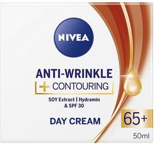 Nivea 50Ml Anti-Wrinkle + Contouring Day Cream 65+ -Päivävoide