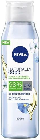 Nivea 300Ml Naturally Good Cotton Flower Shower Gel -Suihkugeeli