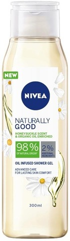Nivea 300Ml Naturally Good Honeysuckle Shower Gel -Suihkugeeli