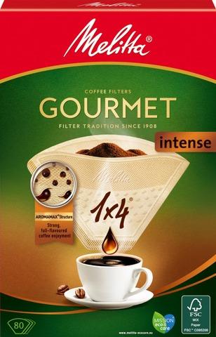 Melitta 1X4/80 Gourmet Intense Suodatinpaperi