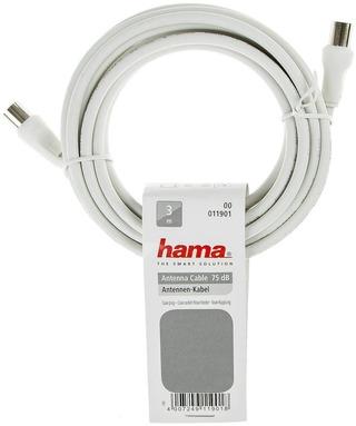Hama Antennijohto 75Db 3M Valkoinen
