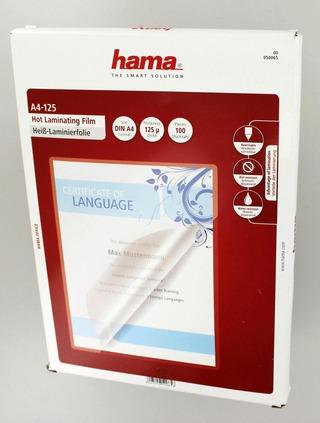 Hama Laminointikalvo A4, 125Μ, 100 Kpl