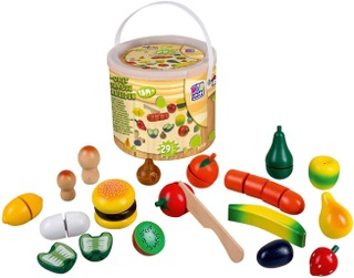 Juniors Home 29 Pcs Wooden Food In Box