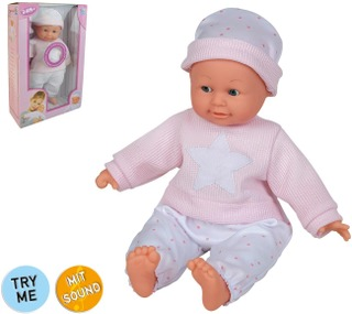 40Cm Baby Doll W/ 6 Sounds