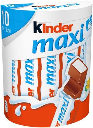 Kinder Maxi Maitosuklaata Maitoisalla Täytteellä 210G (10Kpl)