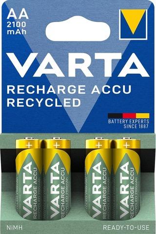 Varta Recharge Accu Recycled 4xAA 2100mAh ladattava alkaliparisto