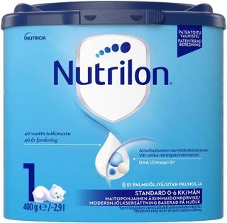 Nutrilon Standard 1 400G, Maitopohjainen Äidinmaidonkorvikejauhe, 0-6 Kk