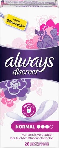 Always 28kpl Discreet Normal inkontinenssisuoja