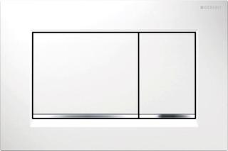 Geberit Sigma 30 Huuhtelupainike Valkoinen-Kromi Duofix