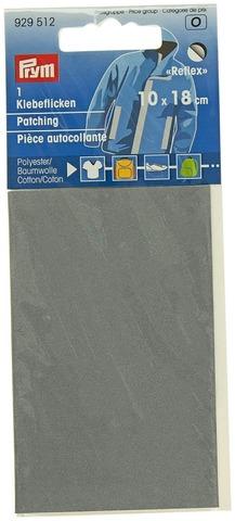 Prym heijastava kangaspaikka 18x10cm harmaa