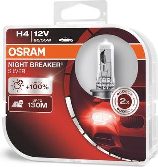 Osram Night Breaker Silver H4 12V 60/55W Polttimopari