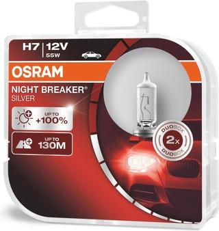 Osram Night Breaker Silver H7 12V 55W Polttimopari