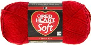 Red Heart neulelanka Soft 100g punainen