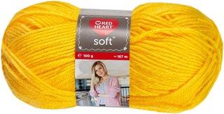 Red Heart neulelanka Soft 100g keltainen