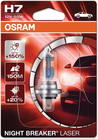 Osram Night Breaker Laser H7 12V 55W Polttimo