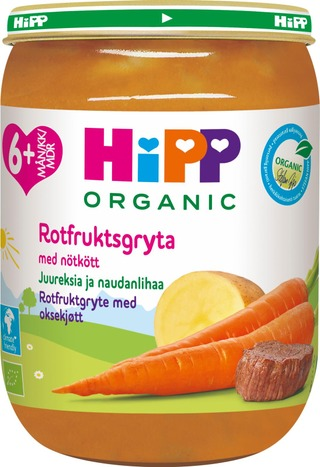 Hipp 190G Luomu Juureksia Ja Naudanlihaa 6Kk