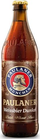 Paulaner Weissbier Dunkel Dark Wheat Beer 5,3% 0,5L Olutpullo