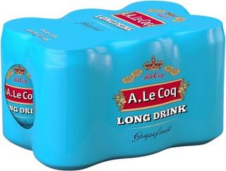 6 x A. Le Coq Grapefruit Long Drink 4,7% 0,33 l tlk