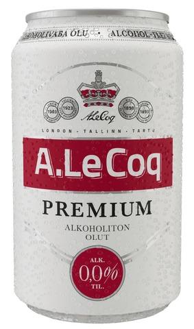 A. Le Coq Alkoholiton 0,0% Olut 0,33 L Tlk