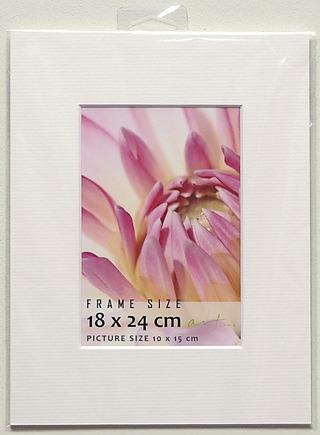 Passepartout kehys 18x24cm valkoinen