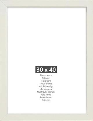 Kehys Nina white mdf 30x40