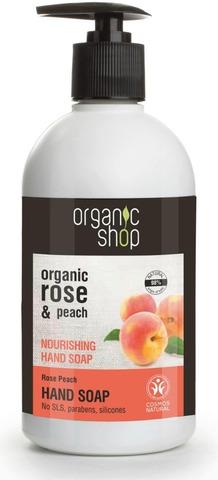 Organic Shop Rose Peach Käsisaippua 500 Ml