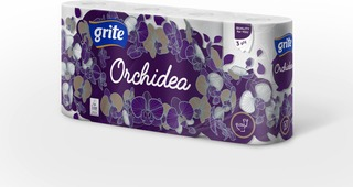 Grite Wc-Paperi Orchidea White 8Rll