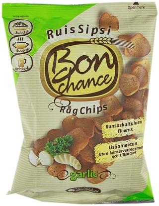 Bon Chance 120g leipäsipsi valkosipuli