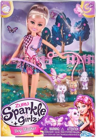 Sparkle Girlz Nukke Koiran Ulkoiluttaja
