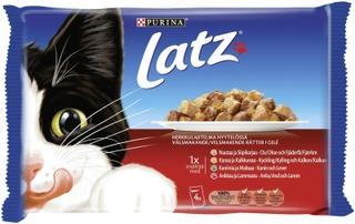 Latz 4x100g Herkkulajitelma Hyytelössä lajitelma 4 varianttia kissanruoka