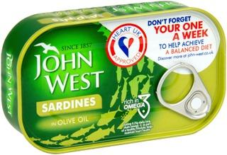 120/90G John West Sardiinit Oliiviöljyssä