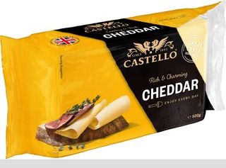 Castello 500G Artfully Authentic Cheddar Juusto