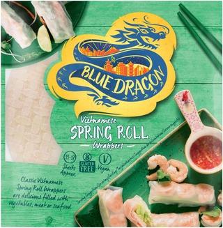 Blue Dragon Spring Roll Wrapper Riisipaperi Kevätkääryleille 134G