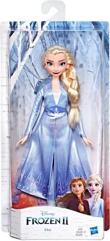 Disney Frozen Elsa -Muotinukke, Jolla On Pitkät Vaaleat Hiukset Ja Frozen 2 -Elokuvan Innoittama Sininen Asu – Lelu Yli 3-Vuotiaille Lapsille