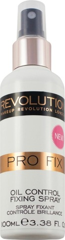 Makeup Revolution 100Ml Pro Fix Oil Control Fixing Spray Meikinkiinnityssuihke