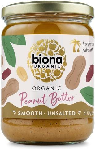 Biona Maapähkinävoi smooth luomu 500g
