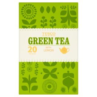 Tesco 50G Vihreä Tee Sitruunalla 20Ps
